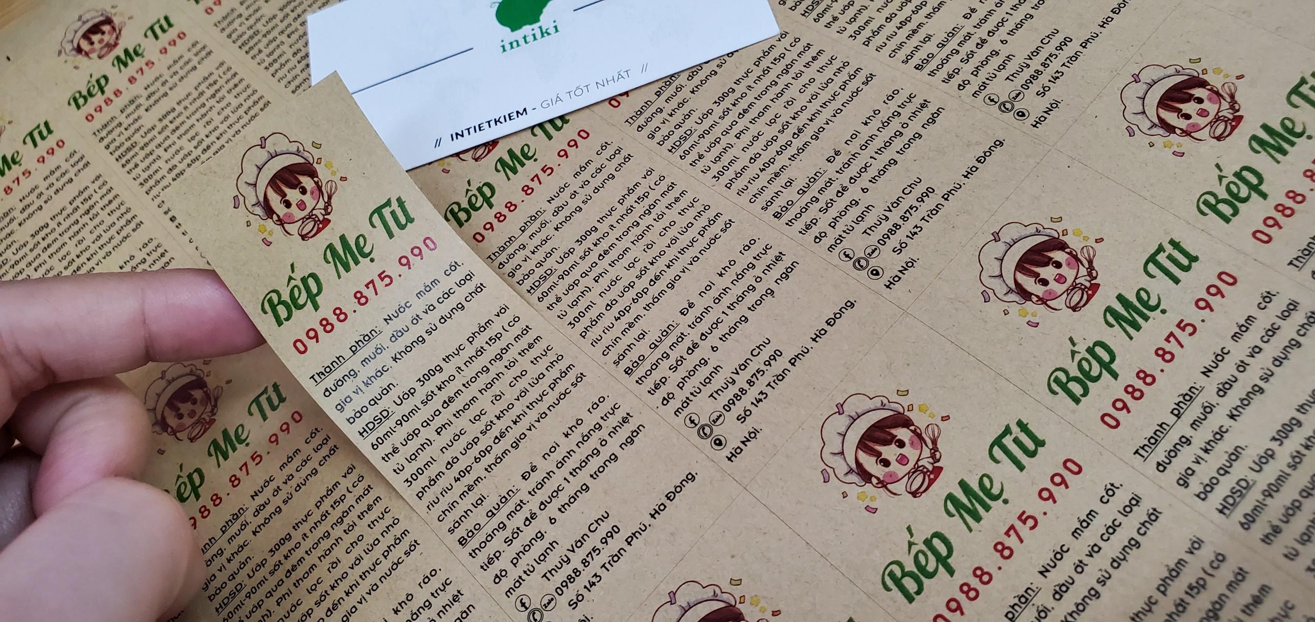 in decal giấy tại Hà Nội