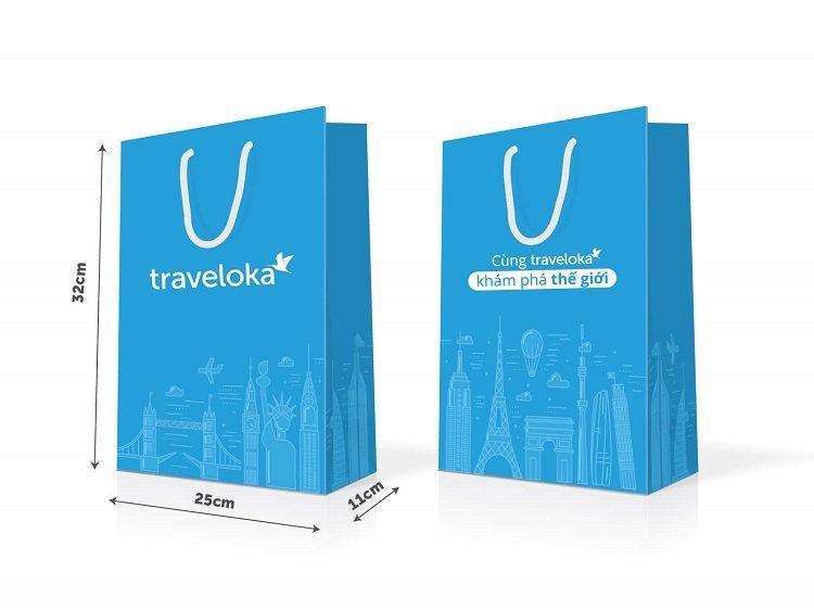 Mẫu túi giấy cho công ty du lịch