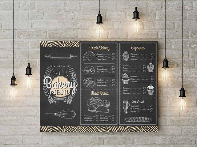 Một số dịch vụ in menu phổ biến