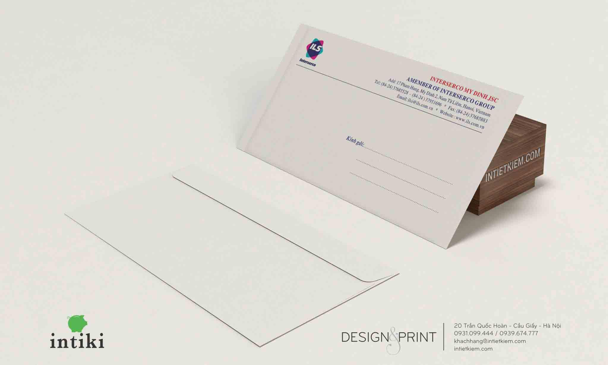 Phong bì thư sử dụng nguyên liệu đa dạng