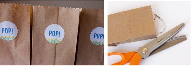 Dán logo, trang trí thêm phụ kiện cho túi giấy đựng bánh mì