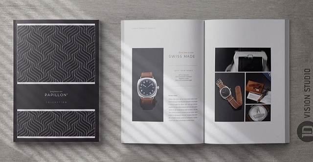 Cuốn catalogue thiết kế sang trọng