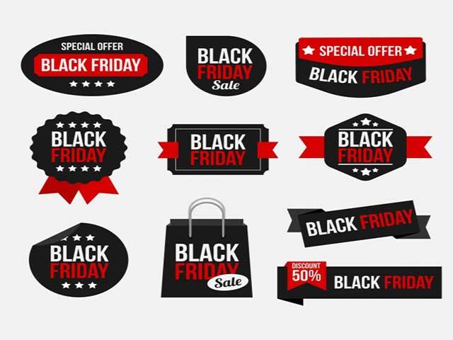 Sticker với 3 màu chủ đạo đỏ, đen, trắng
