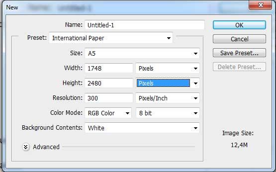 Kích thước giấy A5 pixel