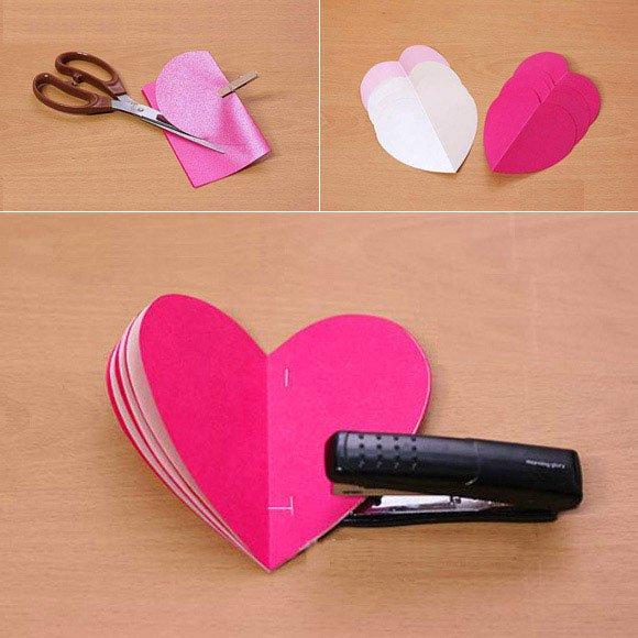 Cách cắt giấy hình trái tim