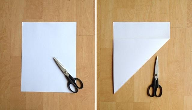 Cách gấp phong bì từ giấy A4 -1