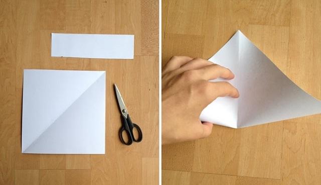 Cách gấp phong bì từ giấy A4 -2