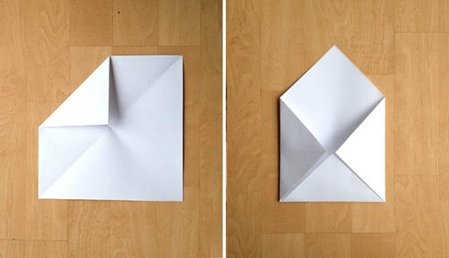 Cách gấp phong bì từ giấy A4 -3