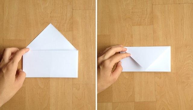 Cách gấp phong bì từ giấy A4 - 4