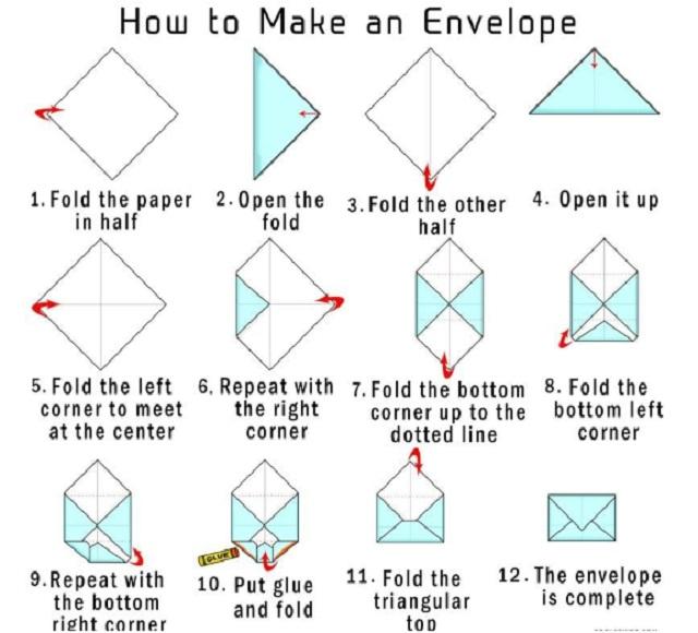 Cách làm phong bì thư hình chữ nhật