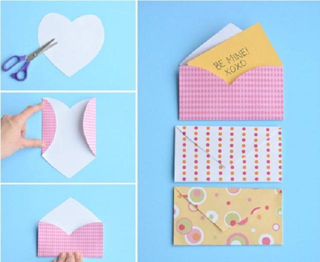 Cách làm phong bì thư hình trái tim