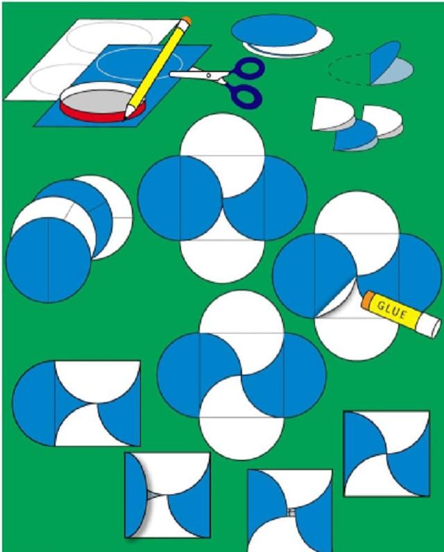 Cách làm phong bì thư hình tròn
