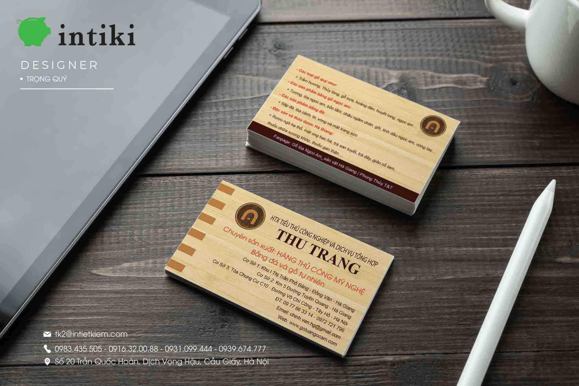 Chất liệu in ấn name card rất đa dạng