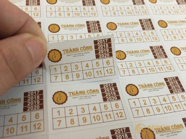 Decal giấy in tem bảo hành