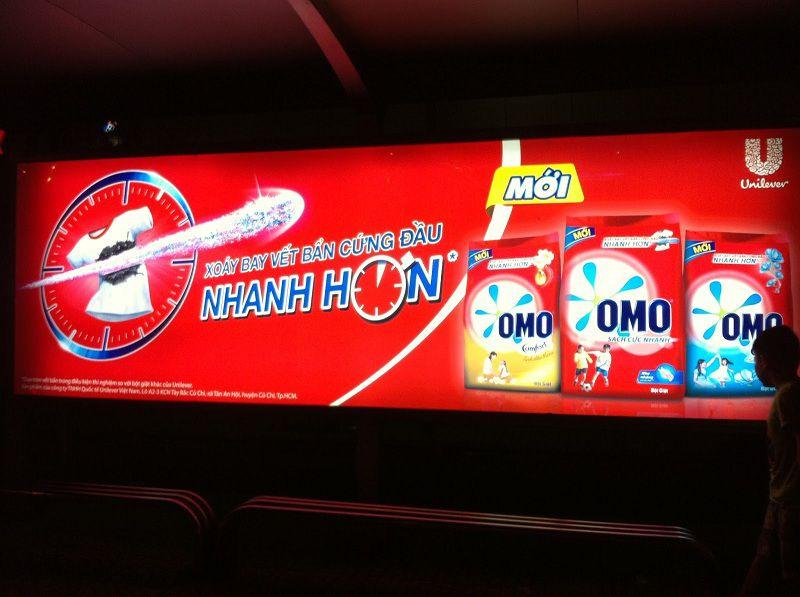 Những ấn phẩm quảng cáo sử dụng backlit film rất thông dụng